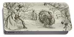November   Vintage Thanksgiving Card Portable Battery Charger