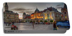 Novi Sad Liberty Square At Twilight Portable Battery Charger