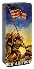 Now All Together Vintage War Poster Restored Portable Battery Charger