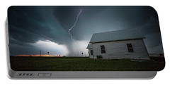 Portable Battery Charger featuring the photograph Nowhere To Run by Aaron J Groen