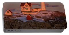 Nubble Light At Sunset Portable Battery Charger