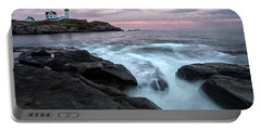 Nubble Lighthouse Of Maine Portable Battery Charger