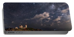 Nubble Lighthouse Under The Milky Way Portable Battery Charger