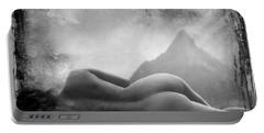 Nude At Chinaman's Hat, Pali, Hawaii Portable Battery Charger