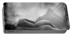 Portable Battery Charger featuring the photograph Nude At Chinaman's Hat, Pali, Hawaii by Jennifer Wright