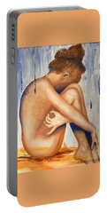 Nude In The Rain Portable Battery Charger