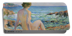 Nude On The Coast Monaco Portable Battery Charger