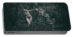 Nude Woman With Lots Of Bubbles Portable Battery Charger