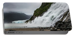 Portable Battery Charger featuring the photograph Nugget Falls And The Mendenhall by Ed Clark