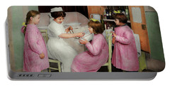 Portable Battery Charger featuring the photograph Nurse - Playing Nurse 1918 by Mike Savad