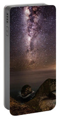 Portable Battery Charger featuring the photograph Nusa Penida Beach At Night by Pradeep Raja Prints