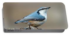 Nuthatch's Pose Portable Battery Charger