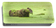 Portable Battery Charger featuring the photograph Nutria In A Pesto Sauce by Robert Frederick