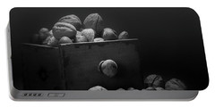 Nuts In Black And White Portable Battery Charger by Tom Mc Nemar