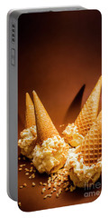 Nuts Over Ice-cream. Birthday Party Background Portable Battery Charger