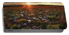 Portable Battery Charger featuring the photograph Nuttalls Linanthastrum by Leland D Howard