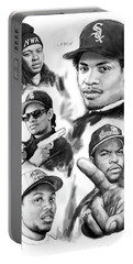 N.w.a. Drawing Art Poster Portable Battery Charger