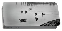 Nyack Geese  Portable Battery Charger by Chuck Kuhn
