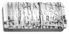 Nyc Brooklyn Bridge Typography No2 Portable Battery Charger