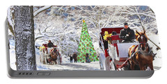 Festive Winter Carriage Rides Portable Battery Charger
