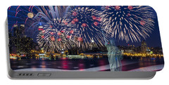 Nyc Fourth Of July Celebration Portable Battery Charger