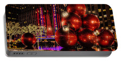 Portable Battery Charger featuring the photograph Nyc Holiday Balls by Chris Lord