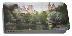 Nyc Resting In Central Park Portable Battery Charger