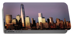 Nyc Skyline At Dusk Portable Battery Charger
