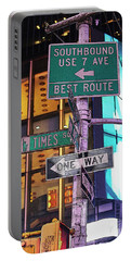 Nyc Street Sign Portable Battery Charger