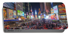 Nyc Times Square Panorama Portable Battery Charger