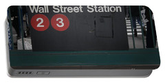 Nyc Wall Street Subway Entrance Portable Battery Charger