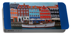 Portable Battery Charger featuring the painting Nyhavn Copenhagen by Deborah Boyd