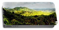 Portable Battery Charger featuring the digital art Oahu Landscape by Kai Saarto