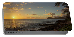 Portable Battery Charger featuring the photograph Oahu Sunset by RKAB Works