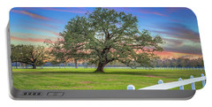 Oak Alley Signature Tree At Sunset Portable Battery Charger