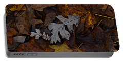 Oak And Maple Leaves Portable Battery Charger by Tim Good
