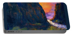 Portable Battery Charger featuring the painting Oak Creek Canyon by Gail Kirtz