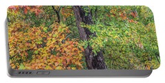 Oak Hickory Woodland Portable Battery Charger by Tim Fitzharris