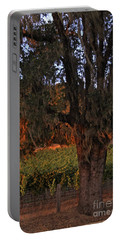 Oak Tree And Vineyards In Knight's Valley Portable Battery Charger