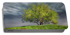 Oak Tree With Tire Swing Portable Battery Charger