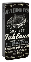 Oakland Raiders Whiskey Portable Battery Charger by Joe Hamilton