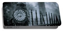 Portable Battery Charger featuring the photograph Oakwood Cemetery by Linda Unger