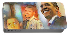 Obama - From Boy Scout To President Portable Battery Charger