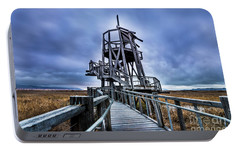Portable Battery Charger featuring the photograph Observation Tower - Great Salt Lake Shorelands Preserve by Gary Whitton