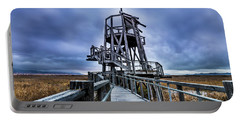 Observation Tower - Great Salt Lake Shorelands Preserve Portable Battery Charger by Gary Whitton