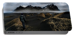 Observing The Beauty Of Iceland Portable Battery Charger