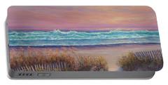 Ocean Beach Path Sunset Sand Dunes Portable Battery Charger