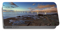 Ocean Beach Pier At Sunset, San Diego, California Portable Battery Charger