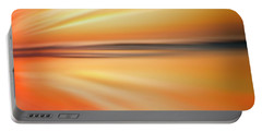 Ocean Beach Sunset Abstract Portable Battery Charger