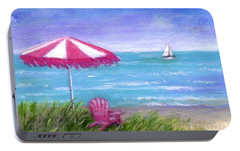 Portable Battery Charger featuring the painting Ocean Breeze by Sandra Estes